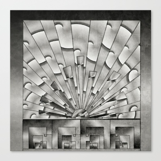 mercury-glass-art-deco-sunburst-canvas