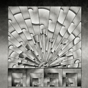 Mercury Glass Art Deco TN