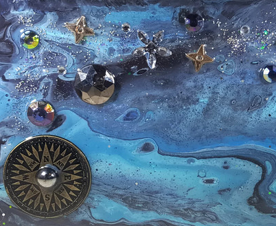 Starry Night Repurposed VCR Case