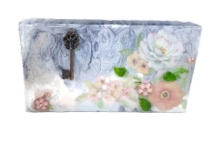 Mixed Media Collage Floral Wall Art