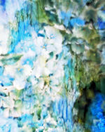 Blue Hydrangea Abstract Watercolor I TN
