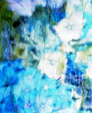 Blue Hydrangea I Abstract Watercolor TN