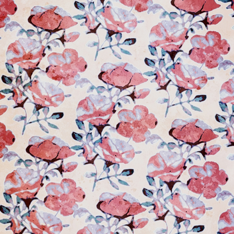 Beach Rose Sunwashed Floral Print TN
