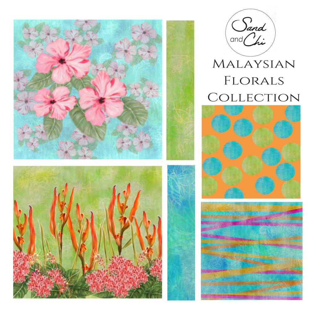 Malaysian Floral Collection Leigh Cornell (Sand and Chi)
