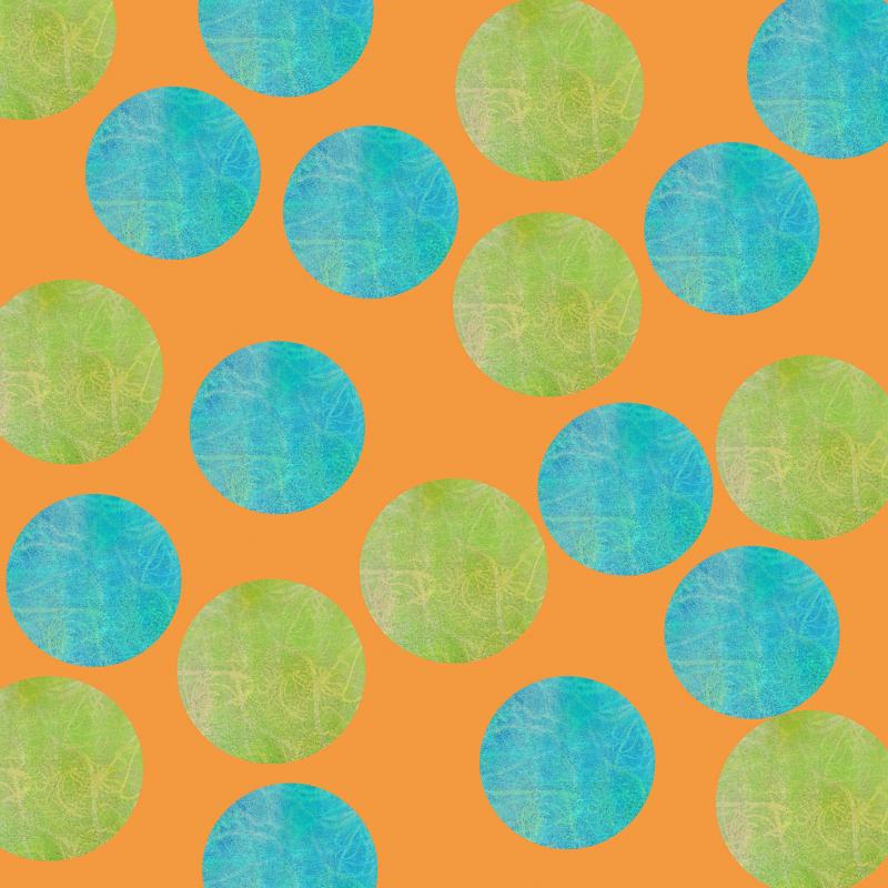 Malaysian Polka Dots Orange TN