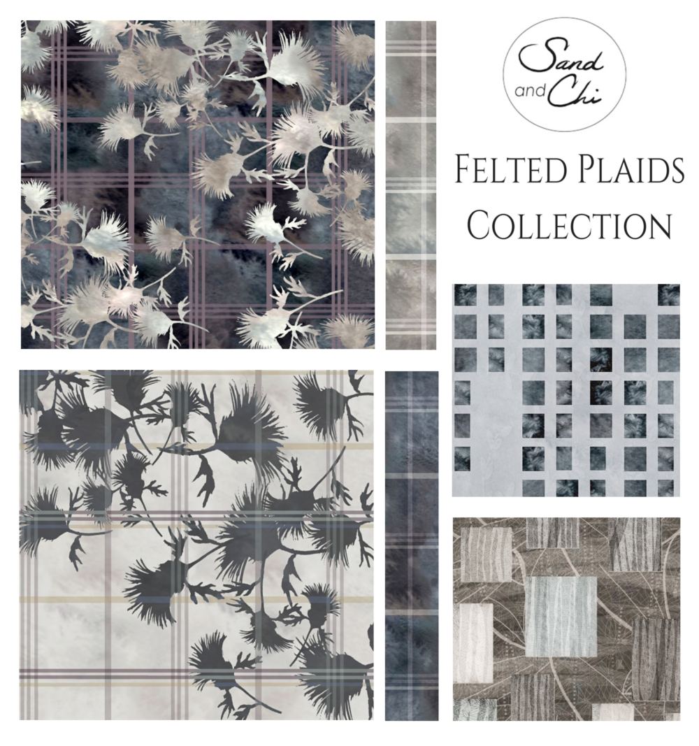 Felted Plaids Collection Presentation Card