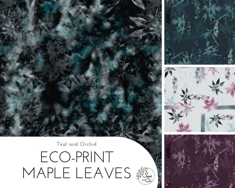 EcoPrint Maple Leaves