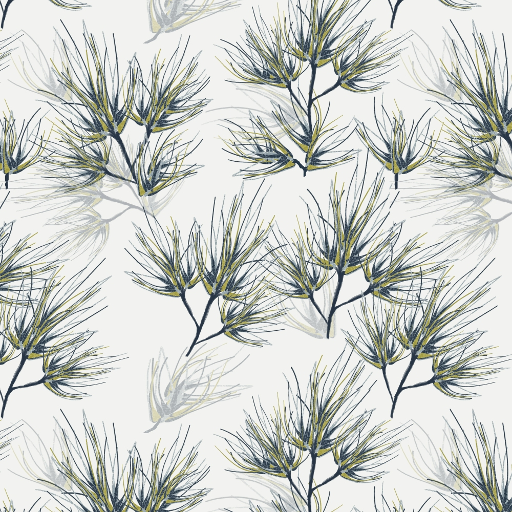 Pine Needles Pattern Wall Paper